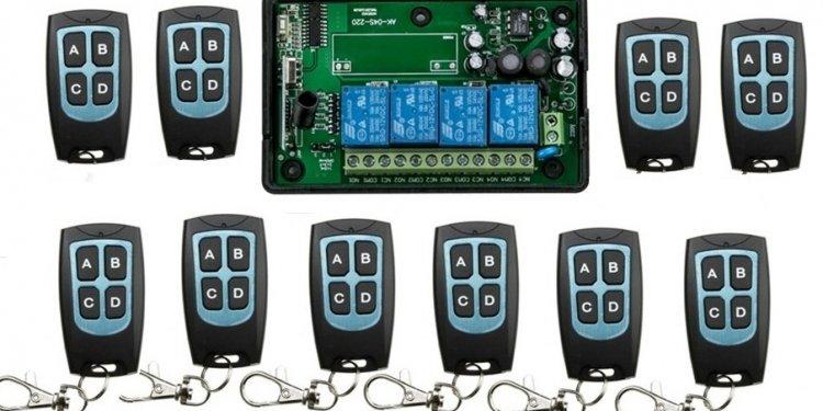 AC110V 220V 4CH RF Wireless