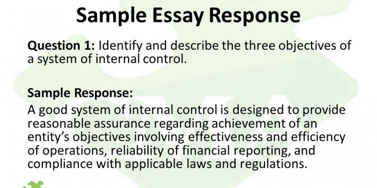 Sample Essay Response Question