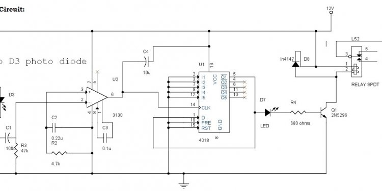 Circuit Diagram of Infrared