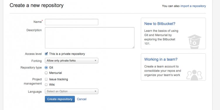 Create a Bitbucket Repository