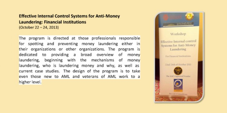 Effective internal control systems