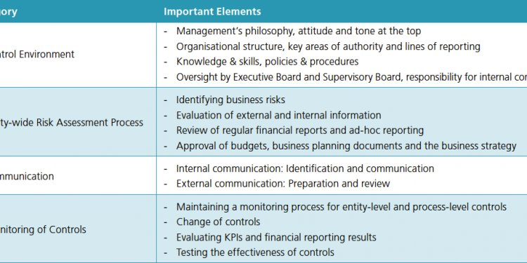 What are internal control systems?